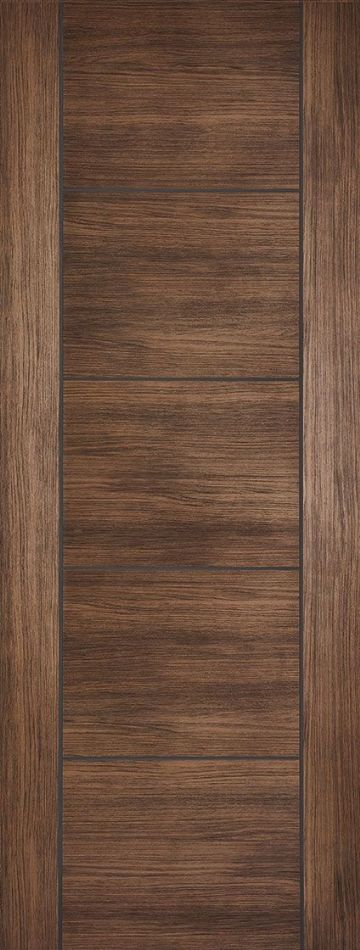 Walnut Laminated Vancouver Fire Door